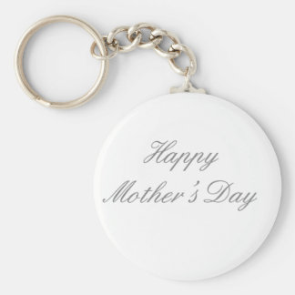 Happy Mother's Day Gray The MUSEUM Zazzle Gifts Keychains