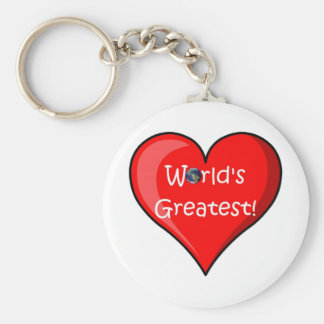 Happy Mother's Day! (Greatest Mum) Basic Round Button Key Ring