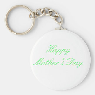 Happy Mother's Day Green The MUSEUM Zazzle Gifts Keychain