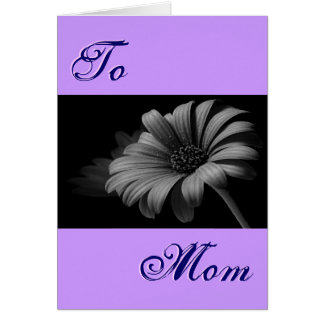 Happy Mother's Day Grey Daisy III Greeting Card