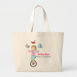 Happy Mother's Day - Happy Juggler Mum on Unicycle Tote Bags