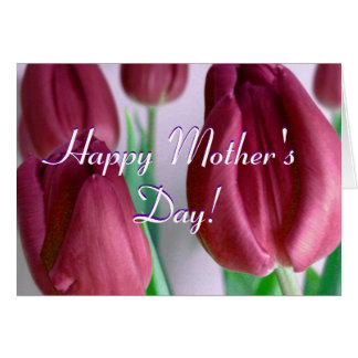 Happy Mother's Day Happy Mother's Day Rosey Tulips Greeting Card