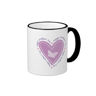 Happy Mothers Day Heart & Butterfly Coffee Mugs