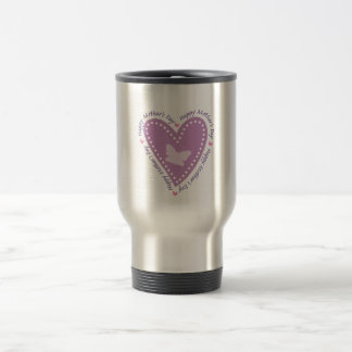 Happy Mothers Day Heart & Butterfly Stainless Steel Travel Mug