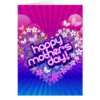 Happy Mother's Day Heart of Diamond Card. Card