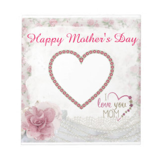 Happy Mother's Day Heart Personalized Notepad