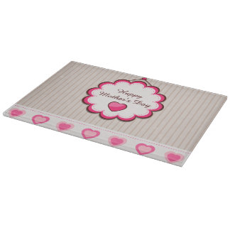 Happy Mother's Day Hearts Cutting Board