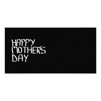Happy Mother's Day. In Black and White. Personalized Photo Card