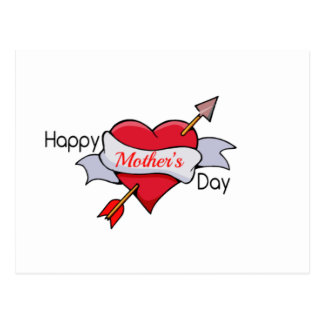 Happy Mother's Day in Heart tattoo Postcard