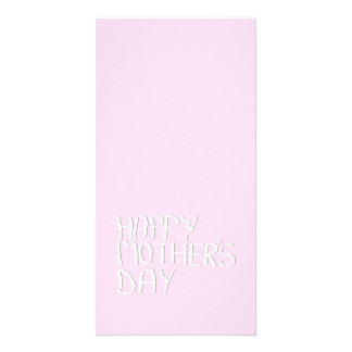 Happy Mothers Day. In pink and White. Custom Picture Card