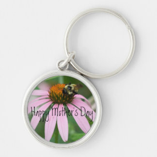 Happy Mother's Day Silver-Colored Round Key Ring