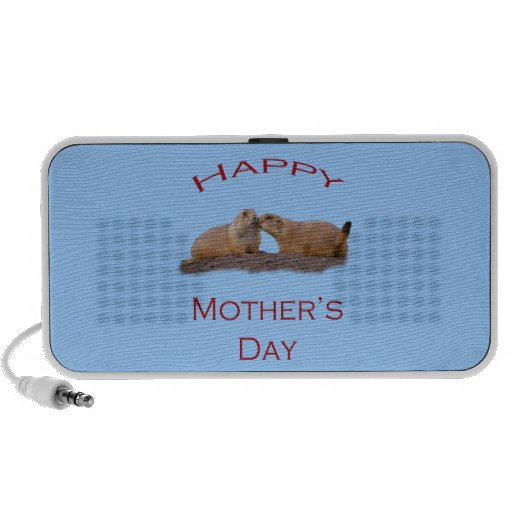 Happy Mother's Day Kiss Portable Speaker
