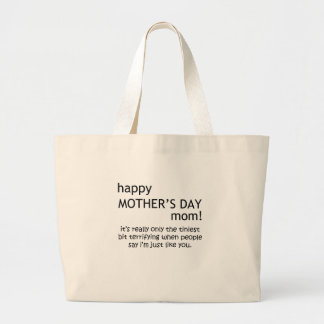 happy mother's day large tote bag