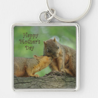 Happy Mother's Day - Mom and Baby Squirrel Key Chains