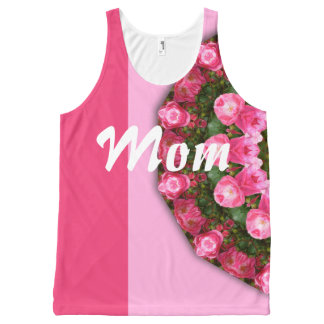 Happy Mother's Day! Mom! Red Roses 01.2.4, mandala All-Over Print Singlet