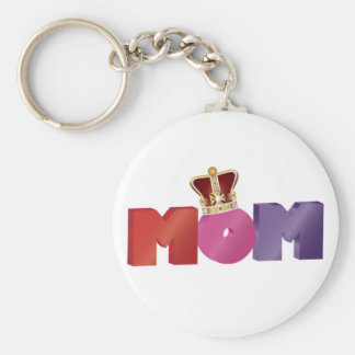 Happy Mother's Day MOM with Jewel Crown Keychain