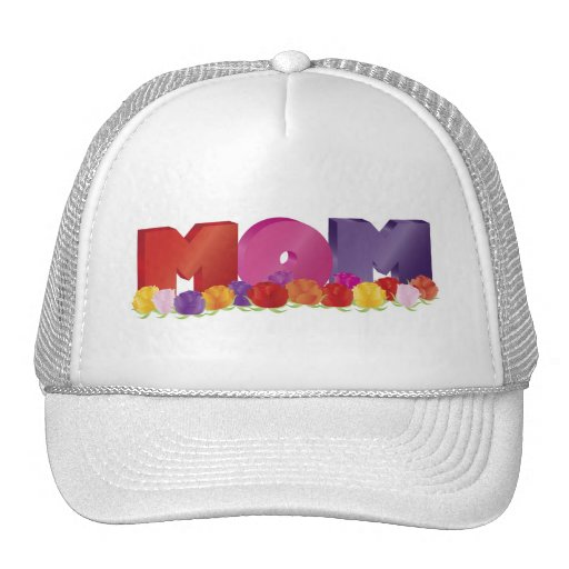 Happy Mother's Day MOM with Roses Hat