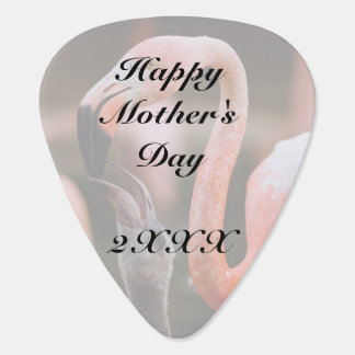 Happy Mother's Day Mother and Child Flamingos Guitar Pick