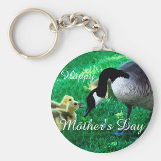 Happy Mother's Day - Mother Goose Basic Round Button Key Ring