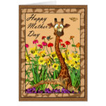 Happy Mother's Day, Mothering Sunday with Giraffe Cards
