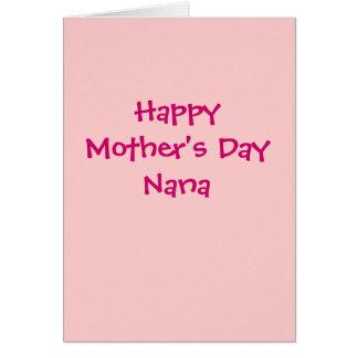 Happy Mother's Day Nana card