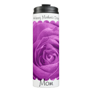 Happy Mother's Day: Orchid Rose Floral Photography Thermal Tumbler