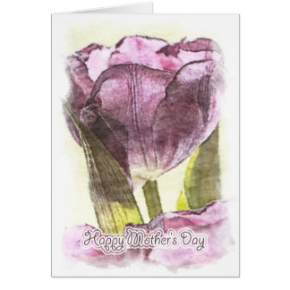 Happy Mother's Day - Painterly Tulip Note Card