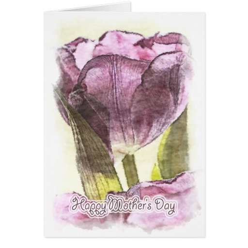 Happy Mother's Day - Painterly Tulip Cards