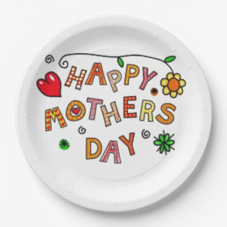 Happy Mothers Day Paper Plate