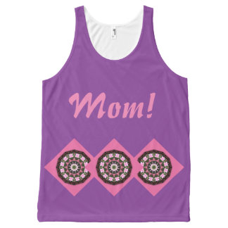 Happy Mother's Day! Pink Blossoms 03.2, mandala All-Over Print Singlet