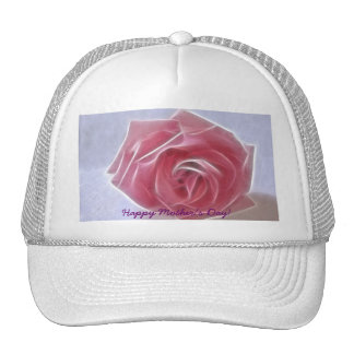 Happy Mother's Day! - Pink Cut Rose - Solitude Trucker Hat
