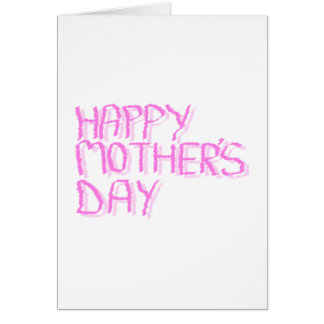 Happy Mothers Day.  Pink Letters. Card