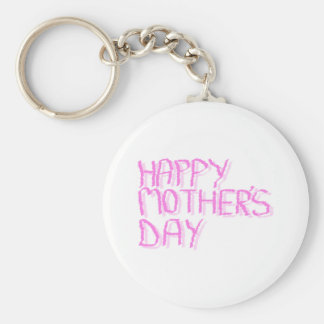 Happy Mothers Day.  Pink Letters. Key Chains
