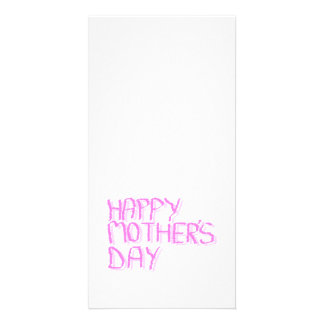 Happy Mothers Day.  Pink Letters. Photo Greeting Card