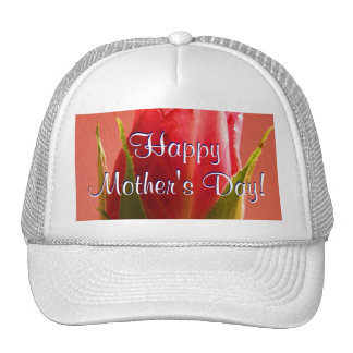 Happy Mother's Day Pink Rose Hat
