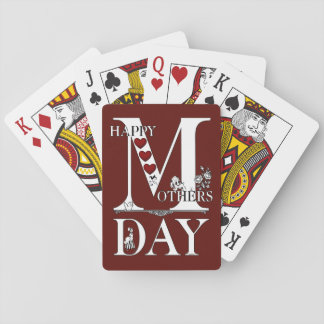 Happy Mothers Day Playing Cards