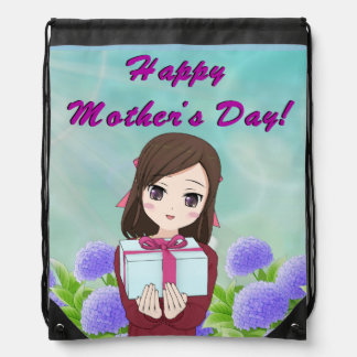 Happy Mother's Day Present (Customizable) Drawstring Bag