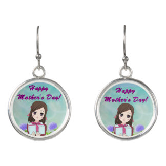 Happy Mother's Day Present (Customizable) Earrings