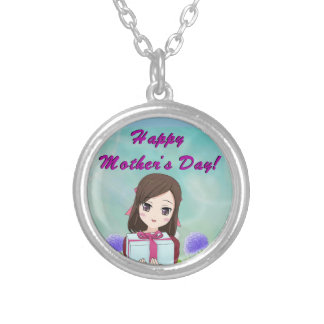 Happy Mother's Day Present (Customizable) Silver Plated Necklace