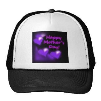 Happy Mother's Day Purpl Hearts Mesh Hat