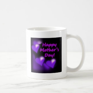 Happy Mother's Day Purpl Hearts Mug