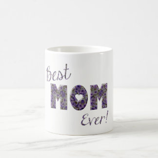 Happy Mother's Day Purple Floral Typography Coffee Mug