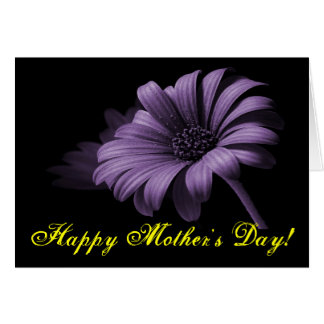 Happy Mother's Day Purple Grey Daisy IV Card