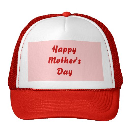 Happy Mothers Day. Red and Pink. Custom Trucker Hat