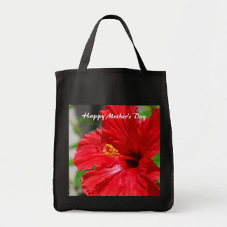 Happy Mother's Day Red Hibiscus Bag