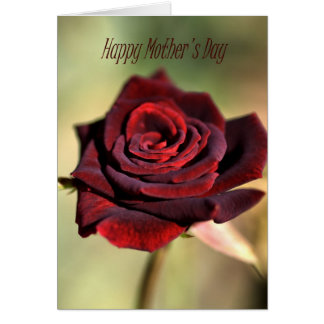Happy Mother's Day - Red Rose Greeting Card