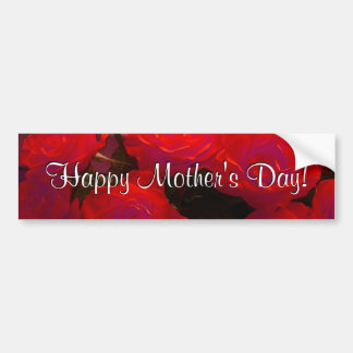 Happy Mother's Day Red Roses Bumper Sticker