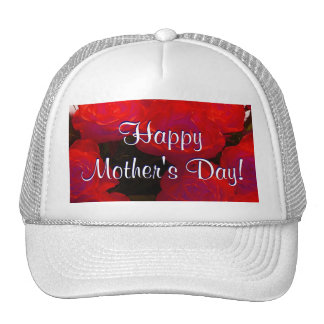 Happy Mother's Day Red Roses Hats