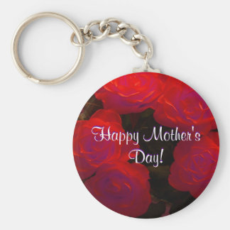 Happy Mother's Day Red Roses Key Chain