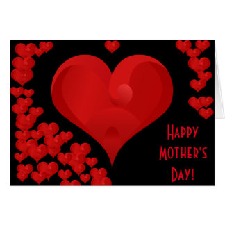 Happy Mother's Day Romantic Sweet Love Hearts Greeting Card